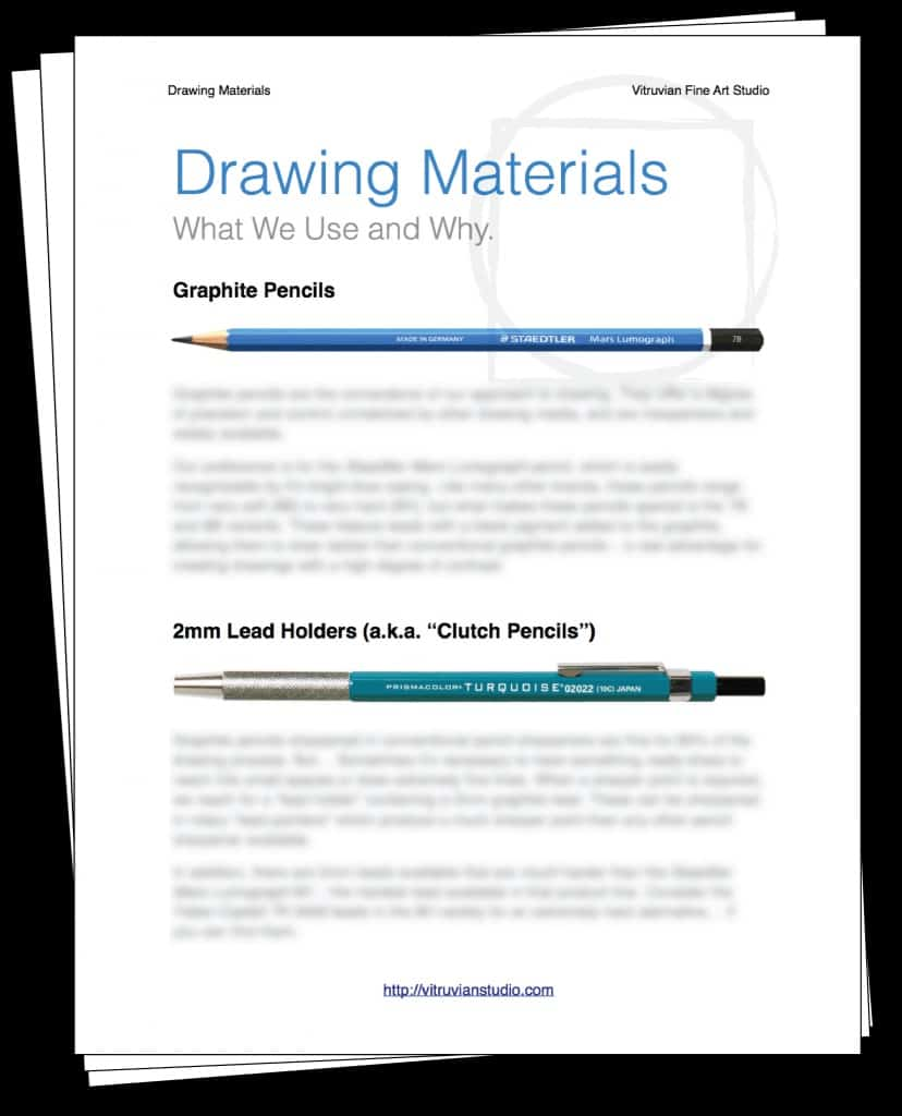 Our 6 page Drawing Materials Guide