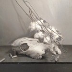 "<em>""Bullets, Cotton & Skull""</em>By John Metido, Oil on Panel"