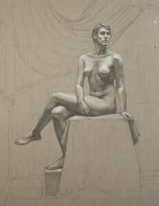 By David Dozier, Graphite and Chalk on Paper