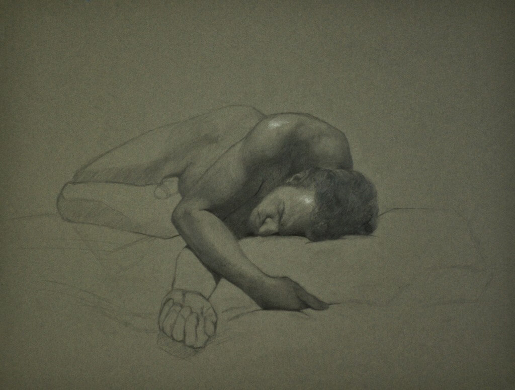 By Julie Bauwens, Graphite and Chalk on Paper