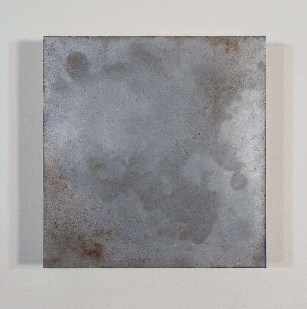 oil on aluminum, 9 x 9, 2014.