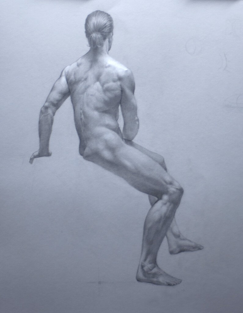 By Vinko Lisnic, Graphite and Chalk on Paper