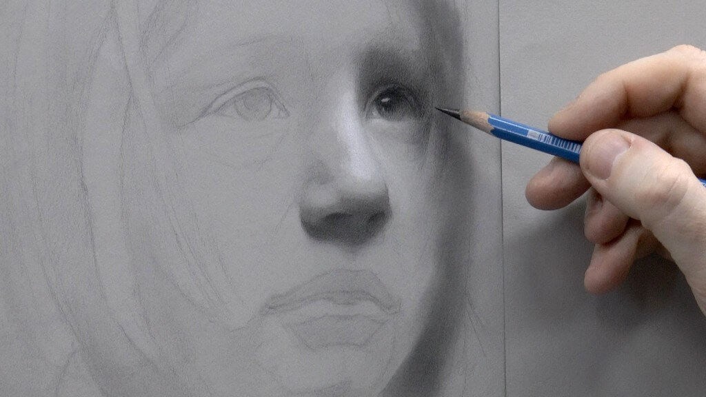 Drawing Children is difficult because the definition of forms is so much softer on younger faces.