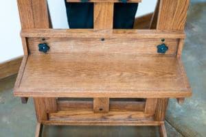 The taboret from above.