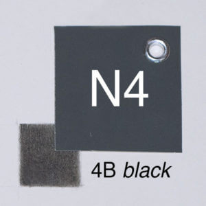 4B black with moderate pressure on white paper. Closest whole-step Munsell value: 4