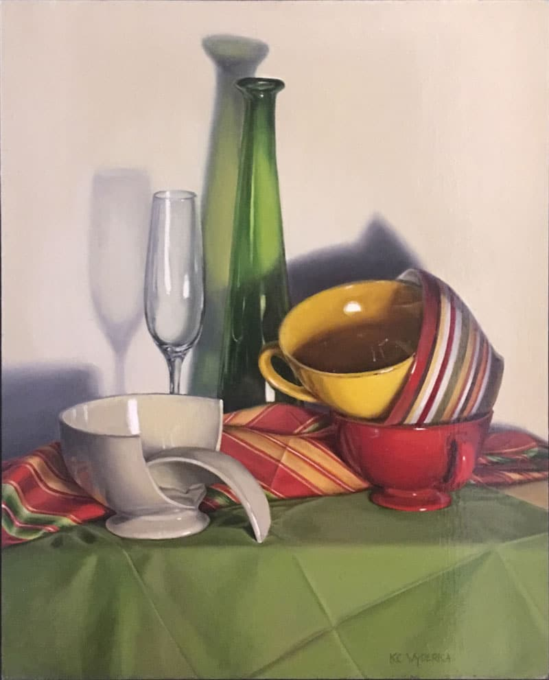 "<em>""Broken Bowl""</em>, Oil on Canvas, by Kevin Wyderka"