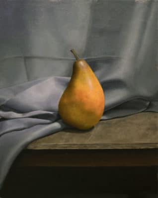 "<em>""Pear Study""</em>, Oil on Canvas, by Hillary Inkaya"