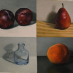 "<em>""Four Small Studies""</em>, Oil on Canvas, by Hillary Inkaya"