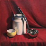 "<em>""Yellow Bowl & Ladle""</em>, Oil on Canvas, by Hillary Inkaya"