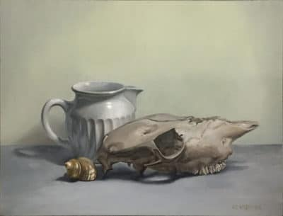 "<em>""Skull & Pitcher""</em>, Oil on Canvas, by Kevin Wyderka"
