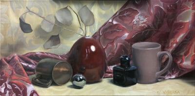 """<em>""""Mauve Vase""""</em>, Oil on Canvas, by Kevin Wyderka"""