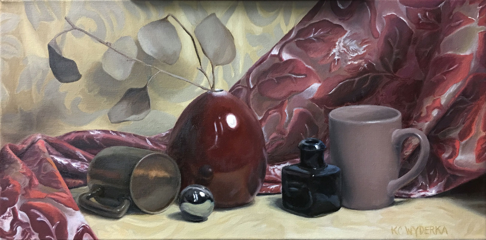 "<em>""Mauve Vase""</em>, Oil on Canvas, by Kevin Wyderka"